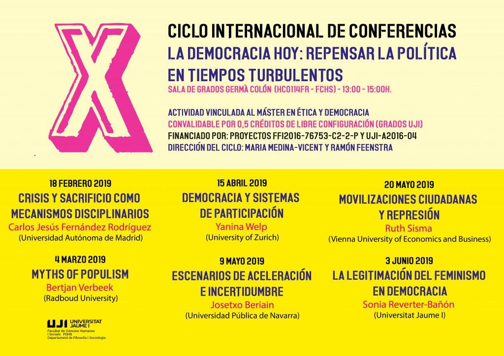 X Cicle La democràcia Avui